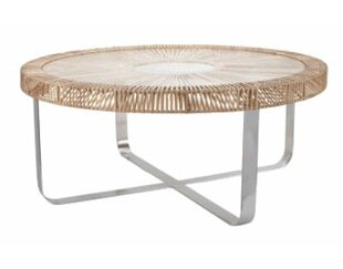 Kiernan Rattan Coffee Table Bayou Breeze