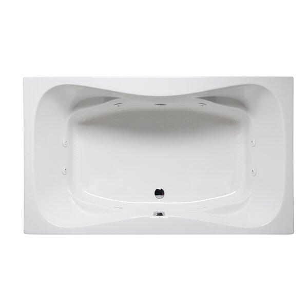 Rampart II 72 x 42 Drop in Whirlpool Bathtub by Americh