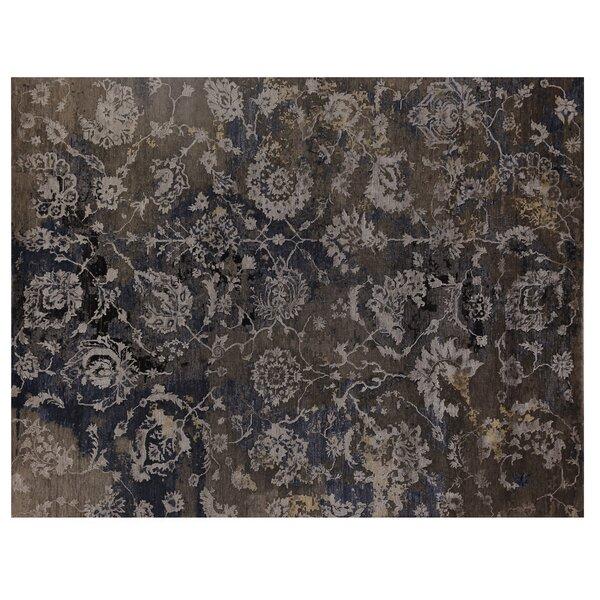 Hundley Hand-Knotted Brown/Blue Area Rug by Exquisite Rugs