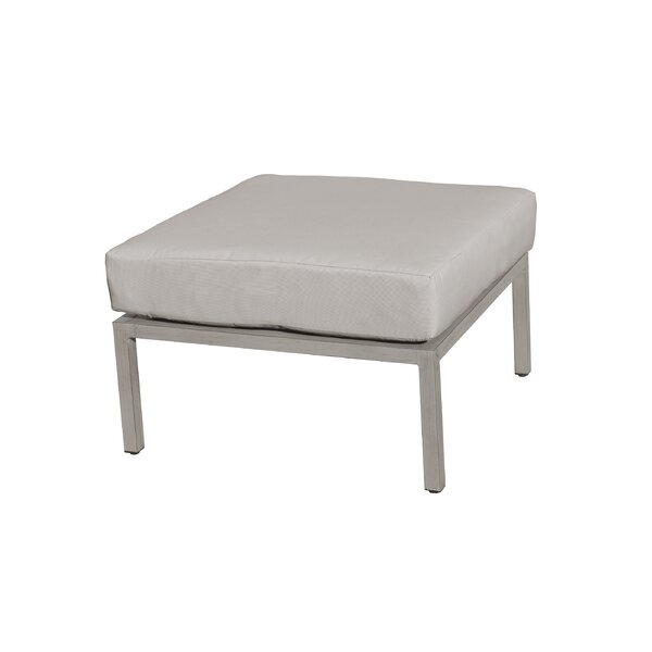 Wrenshall Outdoor Ottoman with Cushion by Red Barrel Studio