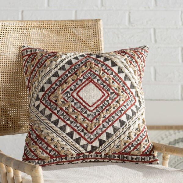 Jaidyn Woven Cotton Throw Pillow by Mistana