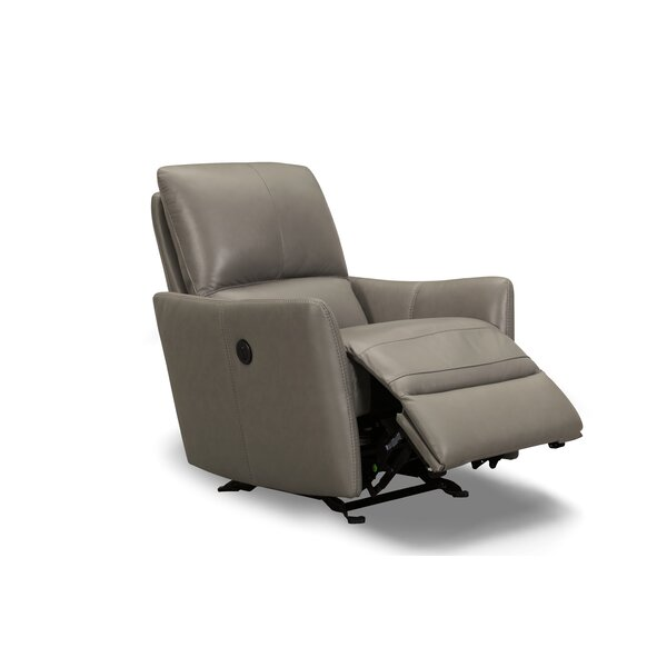 Mcnealy Leather Power Rocker Recliner