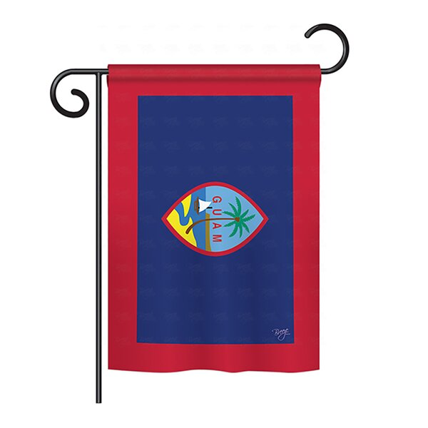 3D Rose National Flag of Guam Painted onto A Brick Wall Guamanian Towel 15 x 22 Multicolor