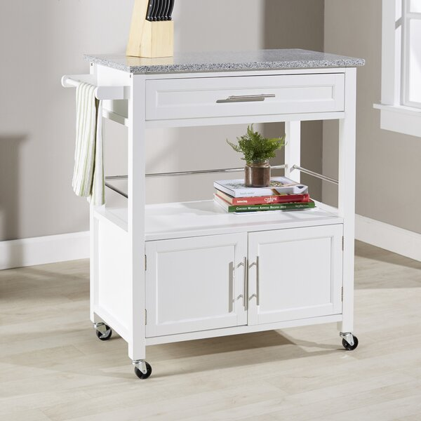 Palouse Kitchen Island with Granite Top by Andover Mills