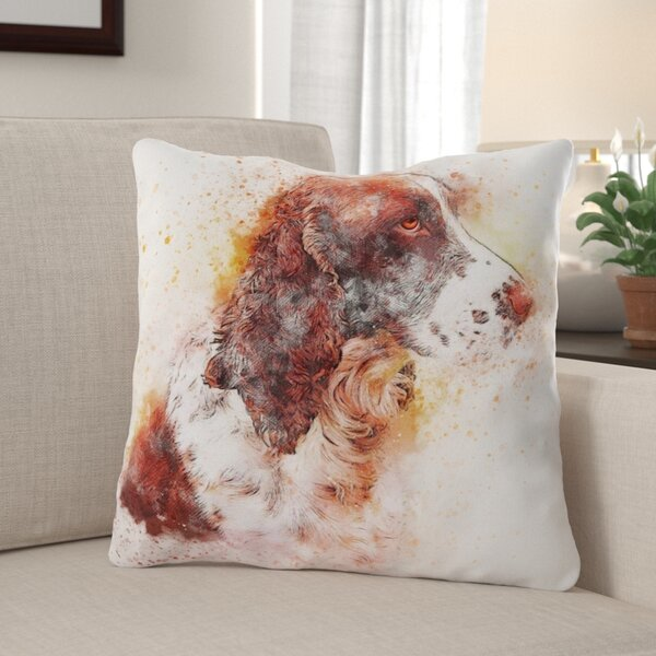 Cueva Dog Throw Pillow