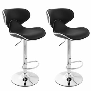 Perfect Low Back Adjustable Height Swivel Bar Stool (Set Of 2)