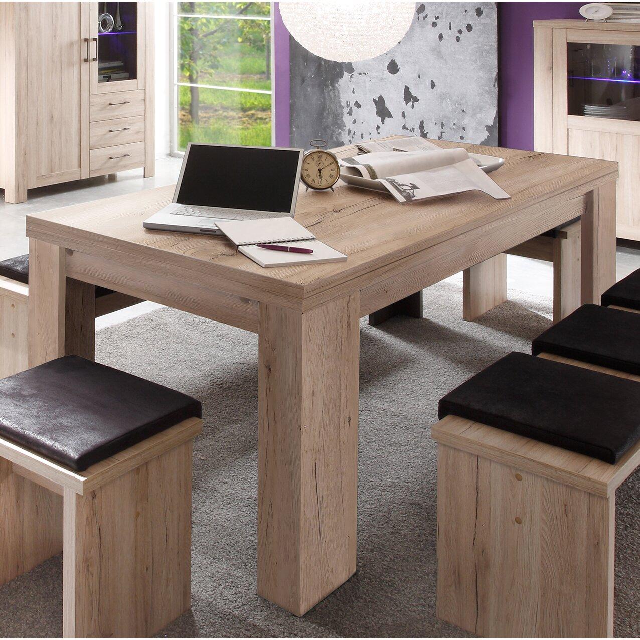 homestead living ausziehbarer esstisch zickzack. Black Bedroom Furniture Sets. Home Design Ideas