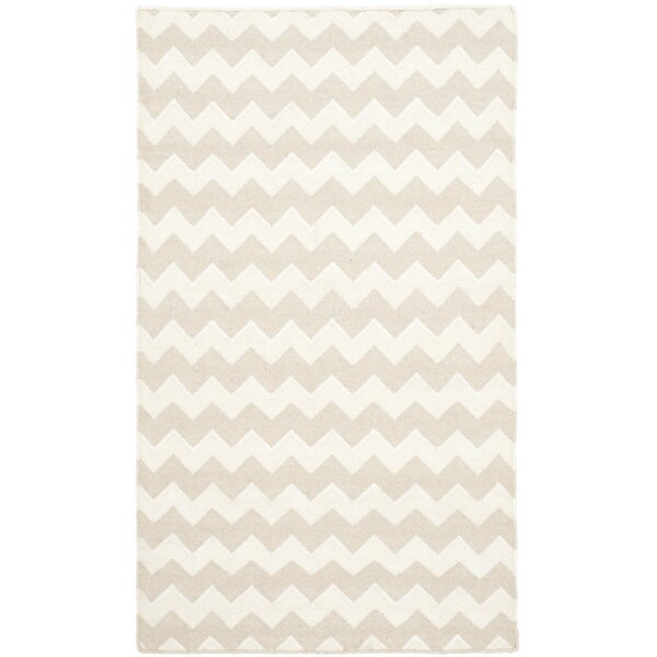 Dhurries Wool Beige/Ivory Area Rug by Safavieh
