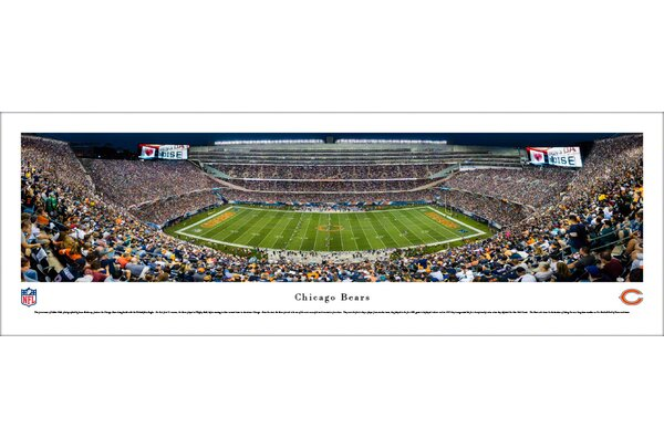 NFL Chicago Bears 50 Yard Night Photographic Print by Blakeway Worldwide Panoramas, Inc