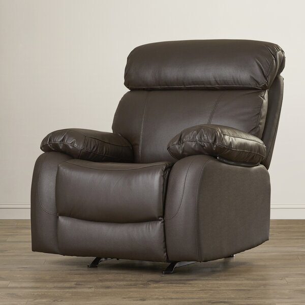 Teena Leather Manual Glider Recliner RDBS3100