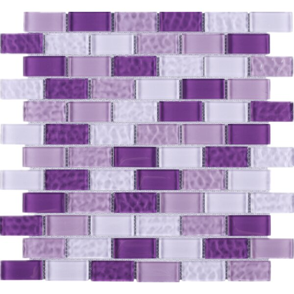 Cockles 1 x 2 Glass Mosaic Tile in Purple by Multile