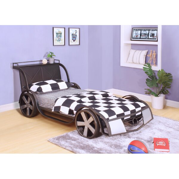 Chaliah Racer Twin Car Bed with Bookcase by Zoomie Kids