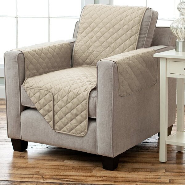 Carnside Box Cushion Armchair Slipcover by Charlto