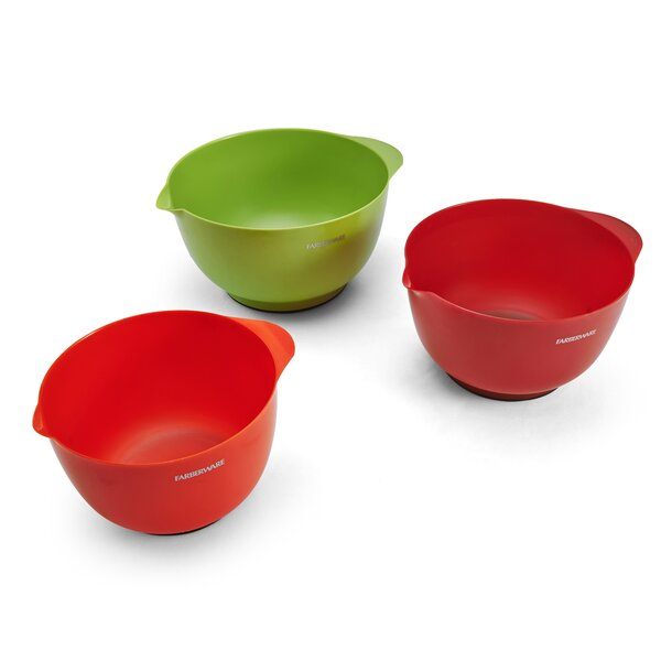 Pro Plastic Mixing Bowl (Set of 3) by Farberware