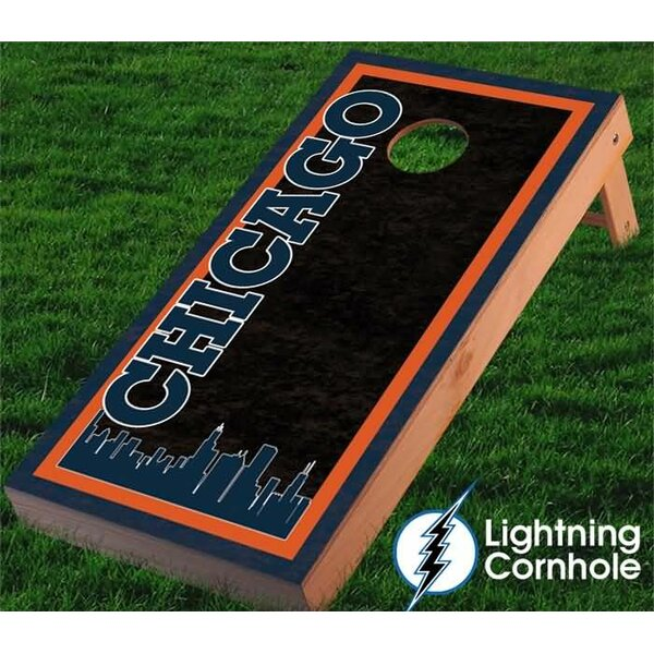 Chicago Skyline Cornhole Board by Lightning Cornhole