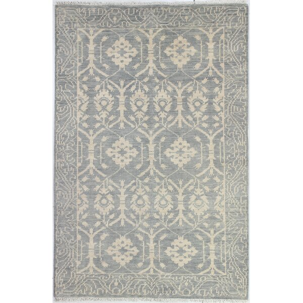 Hand-Knotted Slate Area Rug by Birch Lane™