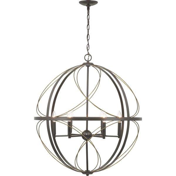 Lapointe 6 - Light Unique / Statement Globe Chandelier By House Of Hampton