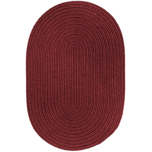 Handmade Red Wine Area Rug by The Conestoga Trading Co.