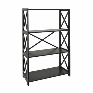 Mertens Wood Etagere Bookcase August Grove