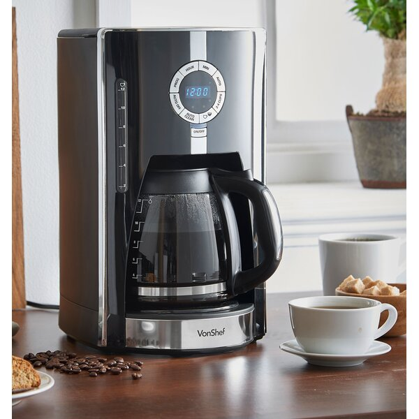 12-Cup Digital Filter Coffee Maker by VonShef