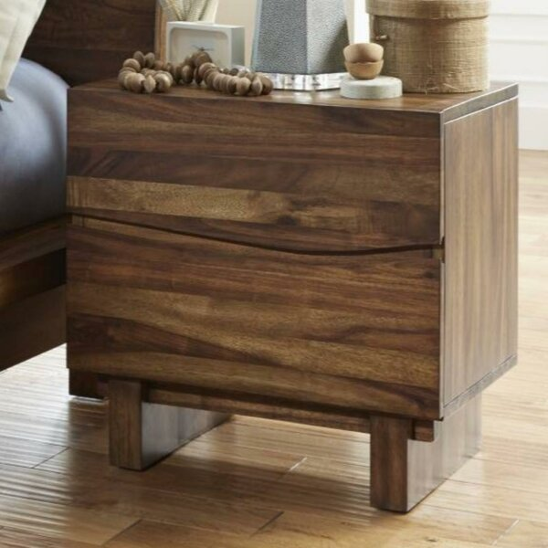 Omak Wooden 2 Drawer Nightstand by Williston Forge