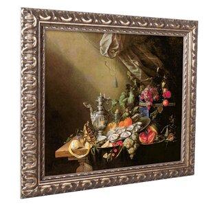 'Banquet Still Life' by Cornelis De Heem Framed Painting Print by Trademark Fine Art