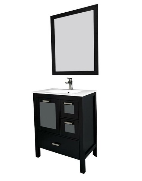 Andre 30 Single Bathroom Vanity Set with Mirror by Longshore Tides