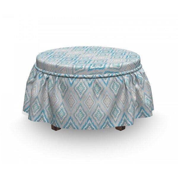 Ikat Aztec Peruvian Culture 2 Piece Box Cushion Ottoman Slipcover Set By East Urban Home