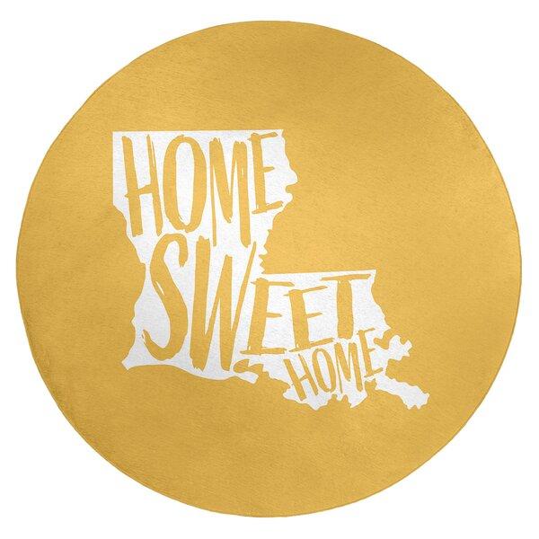 Home Sweet Louisiana Poly Chenille Rug