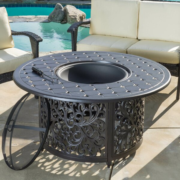 Wheaton Aluminum Wood Burning Fire Pit table by Home Loft Concepts