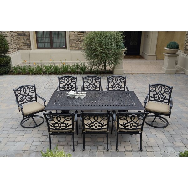 Windley 9 Piece Dining Set with Cushions
