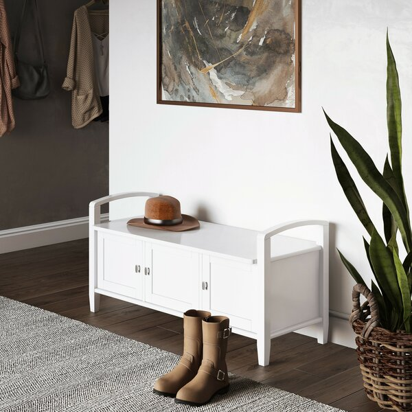 Alameda Wood Cabinet Storage Bench By Alcott Hill