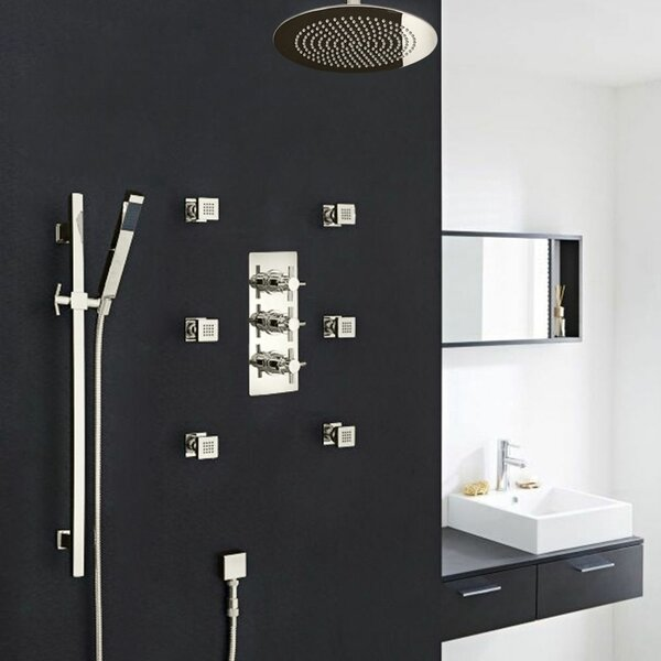 Reno Volume Control Complete Shower System with Rough-in Valve by FontanaShowers FontanaShowers