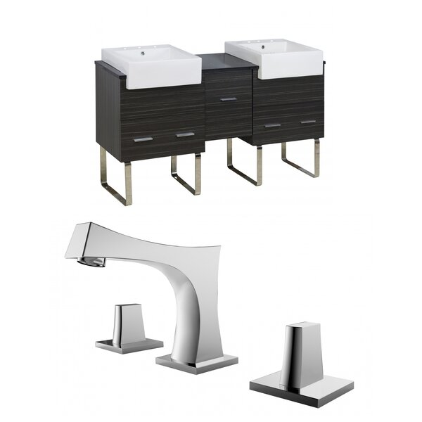 Hindman 60 Double Bathroom Vanity Set by Royal Purple Bath Kitchen