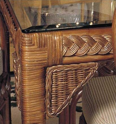 Close Out 1100 Surfwind Rectangular Dining Table by South Sea Rattan South Sea Rattan