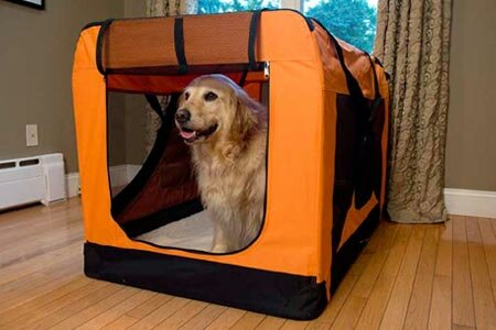 Versatile Pet Soft Crate with Fleece Mat by Iconic Pet