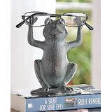 Ebros Aluminum Metal Novelty Whimsical Yoga Frog On Lily Pad Eyeglass Or Spectacle Holder Organizer Decor Statue Home Office Desktop Bedside Table Decorative Figurine Toads Frogs Pond Theme