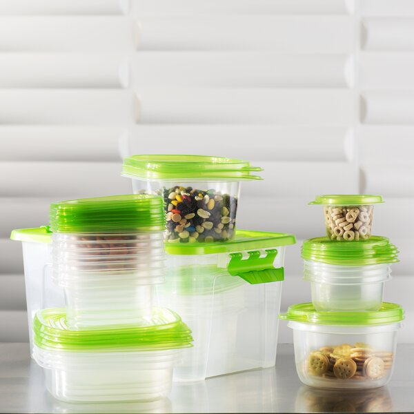 Wayfair Basics Plastic 27 Container Food Storage Set by Wayfair Basics™