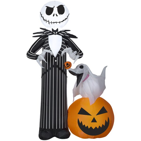 Jack Skellington MD Scene Disney Inflatable with Zero by The Holiday Aisle