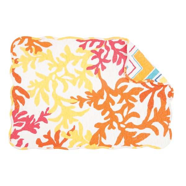 Yichuan Coral Placemat (Set of 6) by Bayou Breeze