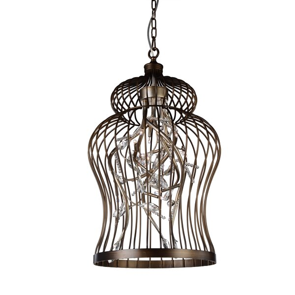 Dooley 6 - Light Lantern Geometric Chandelier by Charlton Home Charlton Home