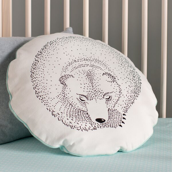 Rigoberto Sleeping Bear Cotton Throw Pillow by Viv + Rae