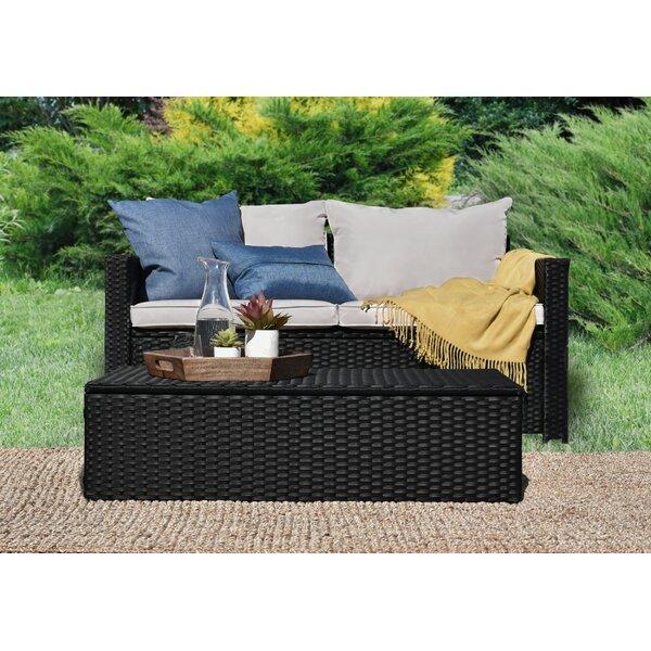 Laguna 2 Piece Sofa Seating Group with Cushions