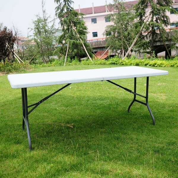 Portable Folding Steel Dining Table by Ktaxon