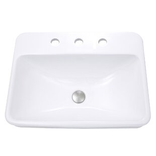 Order Vitreous China Rectangular Drop-In Bathroom Sink with Overflow By Nantucket Sinks