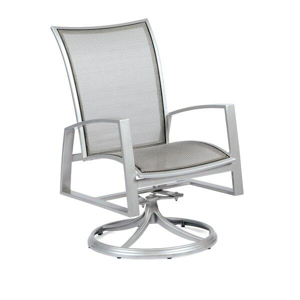 Wyatt Flex Sling Swivel Rocker Patio Dining Chair by Woodard