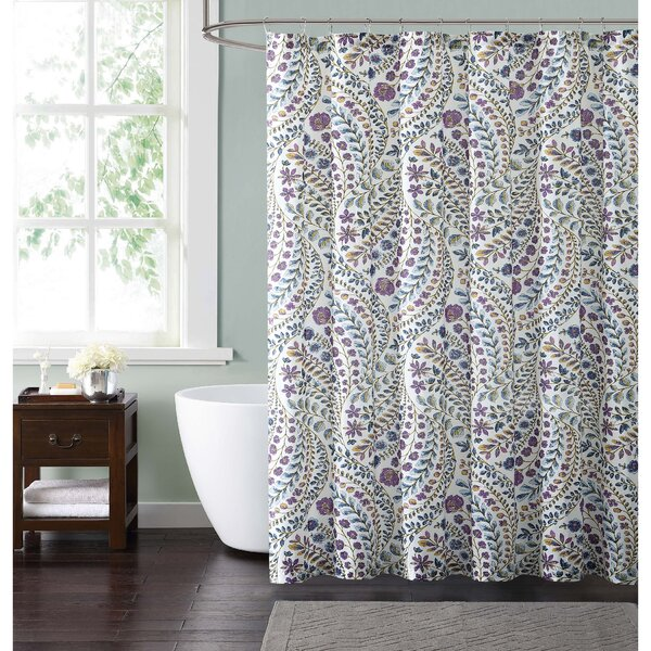 Wills Floral Cotton Shower Curtain by Latitude Run