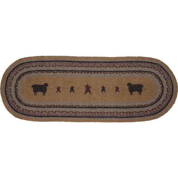 Erekson Sheep Oval Jute Runner by August Grove