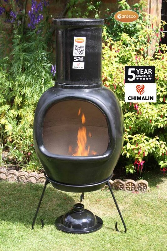 Elegant Asteria Clay Wood Burning Chiminea