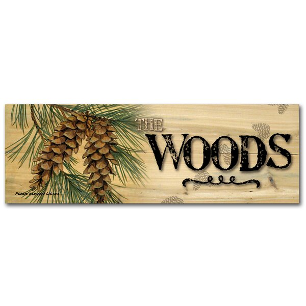 The Woods Pine Cone Graphic Art Plaque by WGI-GALLERY